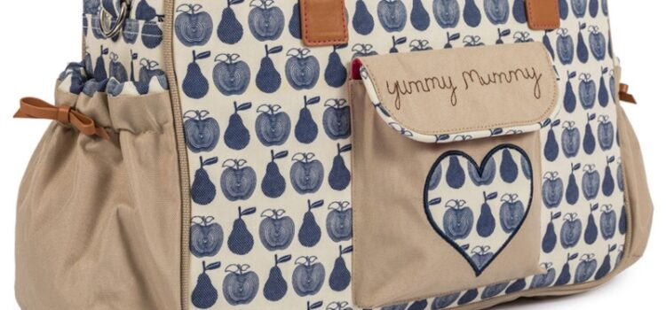 Pink Lining Yummy Mummy Navy Apples & Pears
